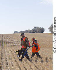 Grandpa and Grandson Hunting - Grandpa and Grandson Pheasant...