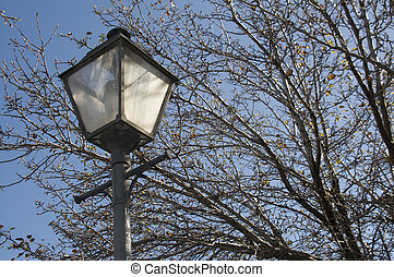 Old Fashioned Street Lamp - Old Fashioned street lamp with...