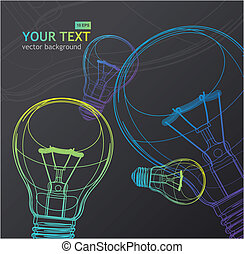 Vector Light bulb background
