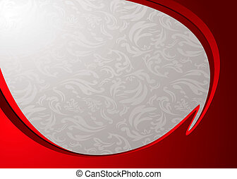 red stripe divide - Red and silver abstract background with...