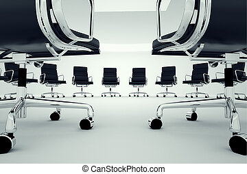 Office chairs. - Black office chairs arranged in a circle.