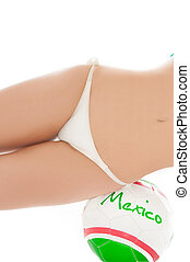 Viva Mexico - Beautiful model wearing green, red and white...