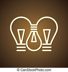 three connecting bulb vector