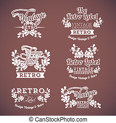 Vintage icons over brown background vector illustration