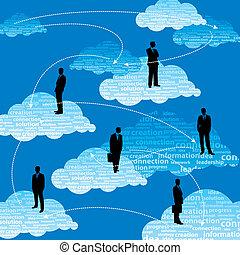 Business team, people on global