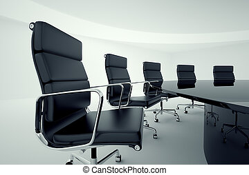 Conference room. - View on office chairs in a board room.