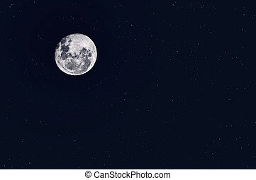 Night Starry Sky Background. Full Moon - Starry skies and...