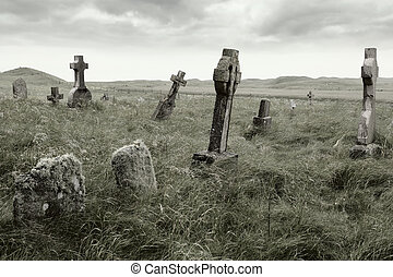 Eerie gravesite - Ancient Celtic gravesite with unmarked...