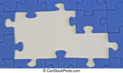 building a jigsaw of blue pieces - building a jigsaw of blue...