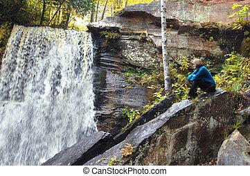 Hungarian Falls in Michigan