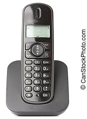 isolated phone - dect cordless phone isolated on withe...