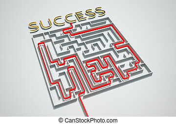 Succes maze. - Finding a way to success in a complicated...