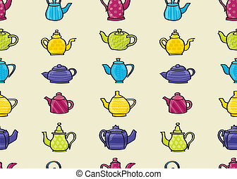 Teapots Seamless Background
