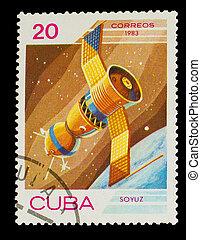 Cuba, -, hacia, 1983:, estampilla, impreso, Cuba,...