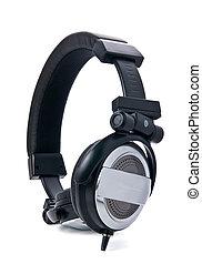 Studio ear-phones close-up vertical