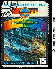 U.R.S.S., -, hacia, 1978:, Un, estampilla, impreso,...