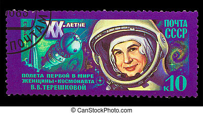 USSR - CIRCA 1983: A stamp printed in USSR, 20th anniversary...