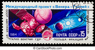 USSR - CIRCA 1984: A stamp printed in USSR, shows Venus...