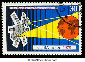 Cuba, -, hacia, 1978:, Un, estampilla, impreso, Cuba,...