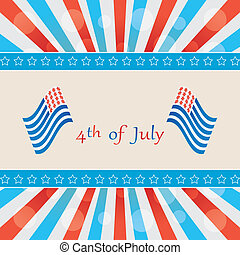 4 th of july background vector