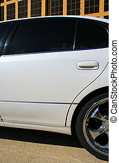 Chrome Wheels - White Lexus GS with chrome rims and tinted...
