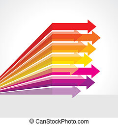 Colored  vector upward arrows - Colored  vector arrows