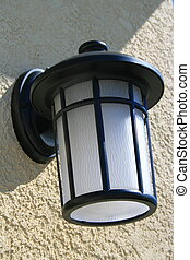 Outdoor Light Fixture - Close up of an outdoor light fixture...