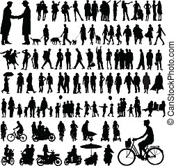 People silhouettes - Collection of people silhouettes