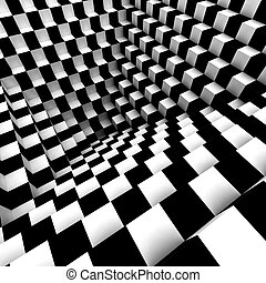 Optical - Abstract geometrical image in op art style