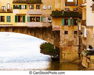 Ponte Vecchio - city of Florence old bridge Ponte Vecchio,...