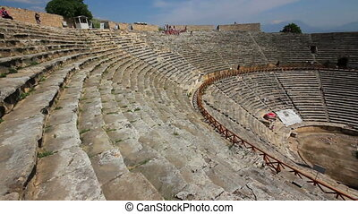 ancient amphitheater in Pamukkale Turkey