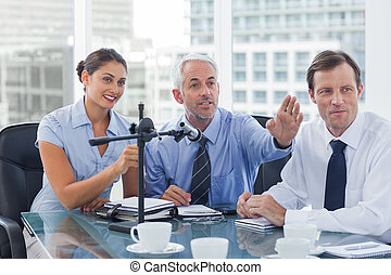 Business people having a conference in the meeting room