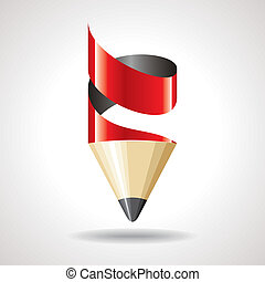 creative pencil vector for designer