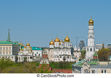 The Ivan the Great bell tower, the Archangel's cathedral,...