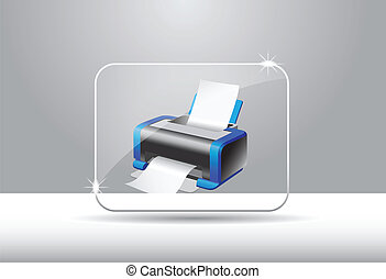 Printer Icon - A Vector icon for computer or internet