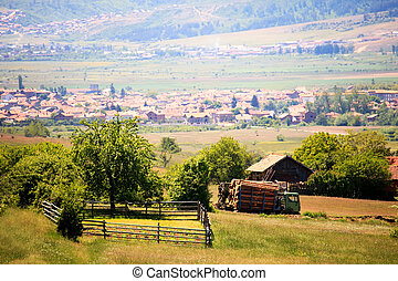 village in bulgaria - sunny still-life bulgarian village...