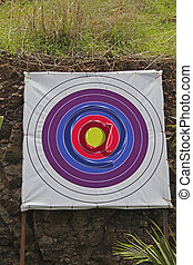 Archery Board, Shooting Targets, Email icon, at symbol Concept