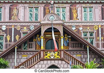 Mulhouse - Historic palace - Mulhouse Haut-Rhin, Alsace,...