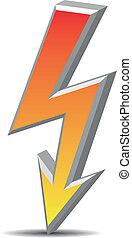 Flash sign - Flash symbol, sign, danger
