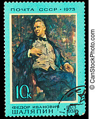 USSR - CIRCA 1973: A stamp printed in USSR, shows operatic...