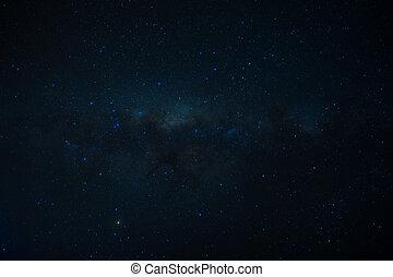 universo, llenado, estrellas, nebulosa, galaxia