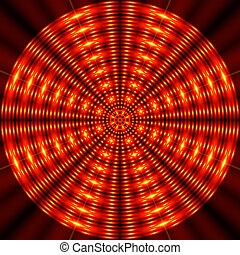 Spinning rings - optical effect