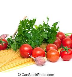 spaghetti preparation, square image - Spaghetti...