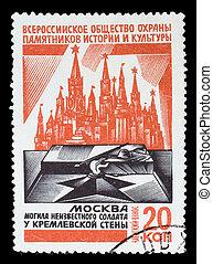 URSS, -, circa, 1975:, Um, selo, impresso, URSS, sociedade,...