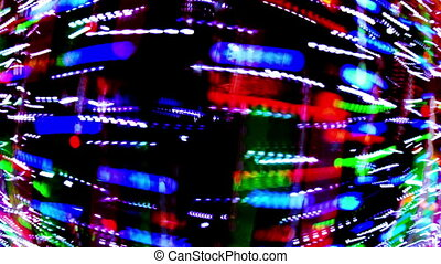 light painting clip disco pattern made from blured lights...