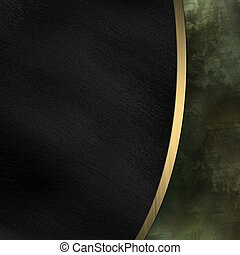 Black and dirty background divided by a gold stripe