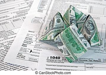 cash cootie catcher - Money cootie catcher on income tax...
