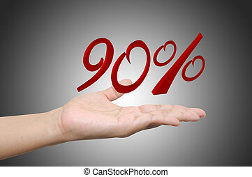 Hand holding the discount information