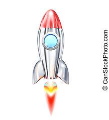 Rocket Ship - Illustration of Rocket Ship icon isolated on...
