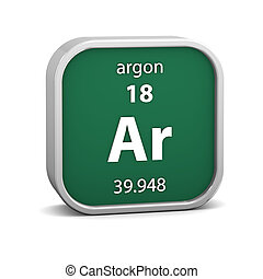 Argon material sign - Argon material on the periodic table...